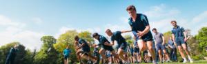 Sportliche Aktivitäten der Schüler der Clayesmore School in England