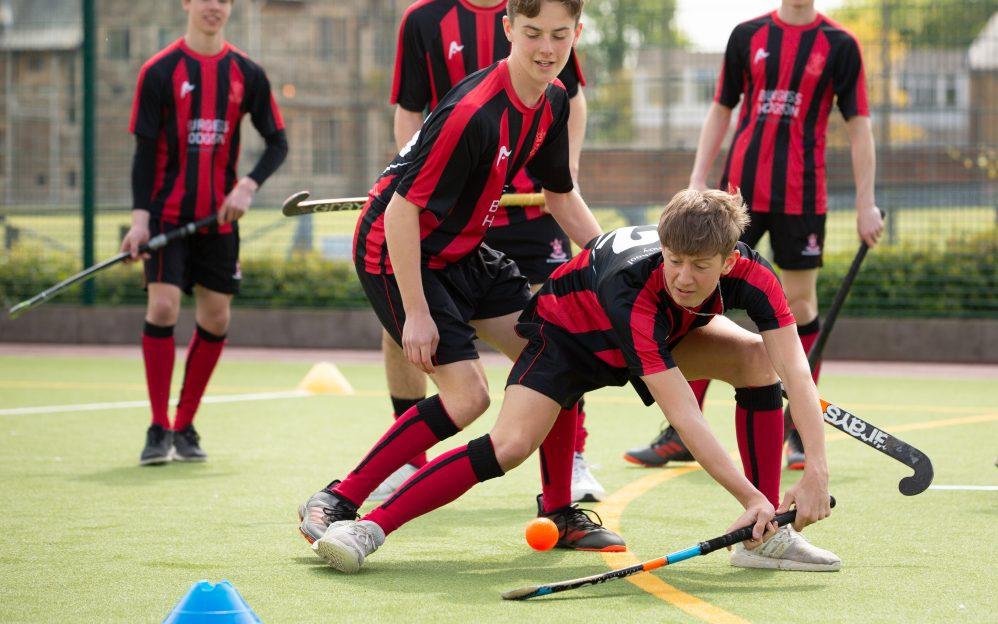 Schüler des St. Edmunds College beim Sport