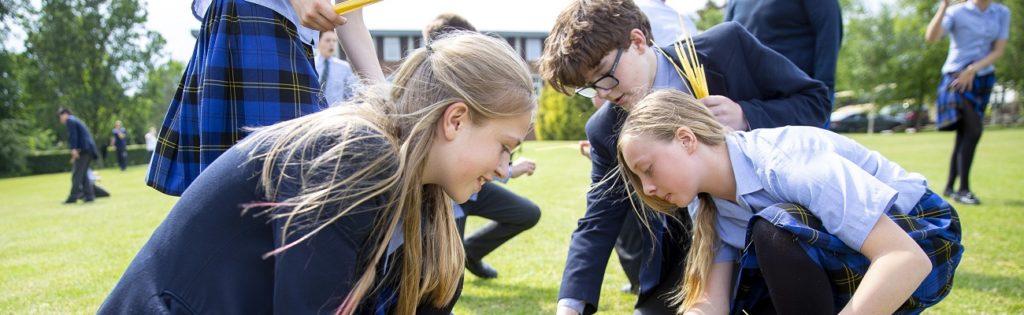 Unsere Partnerinternate in England: Hier Schüler der Sutton Valence School