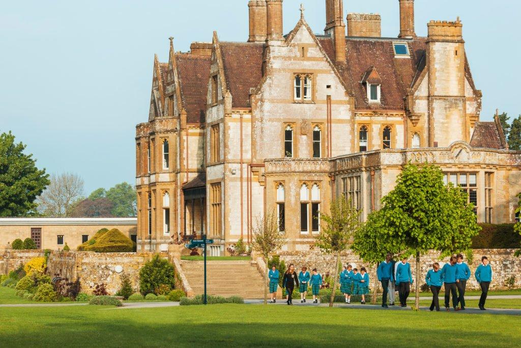 Gebäude der Clayesmore School in England