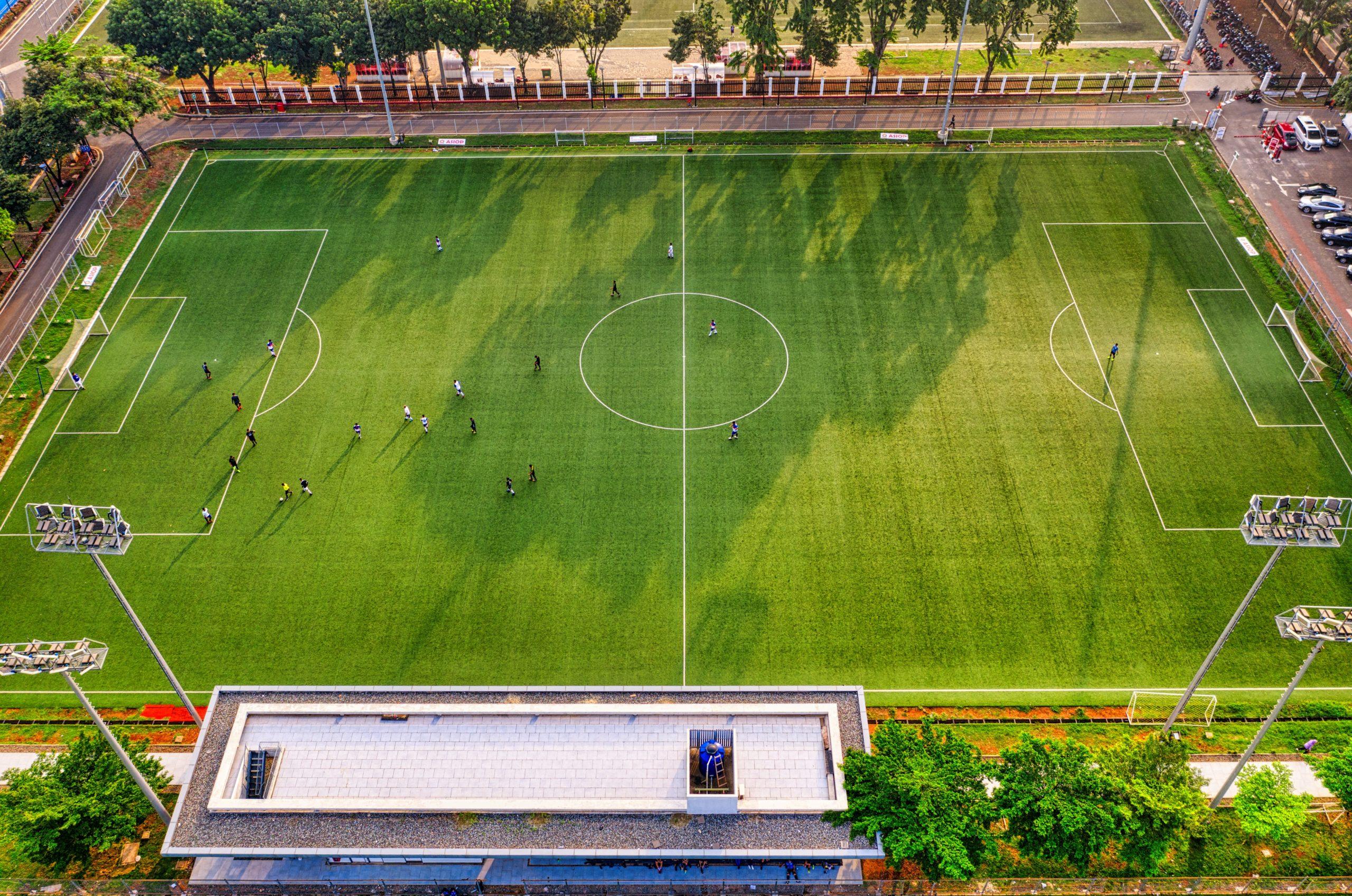 Fußballfeld eines Fußball Internats