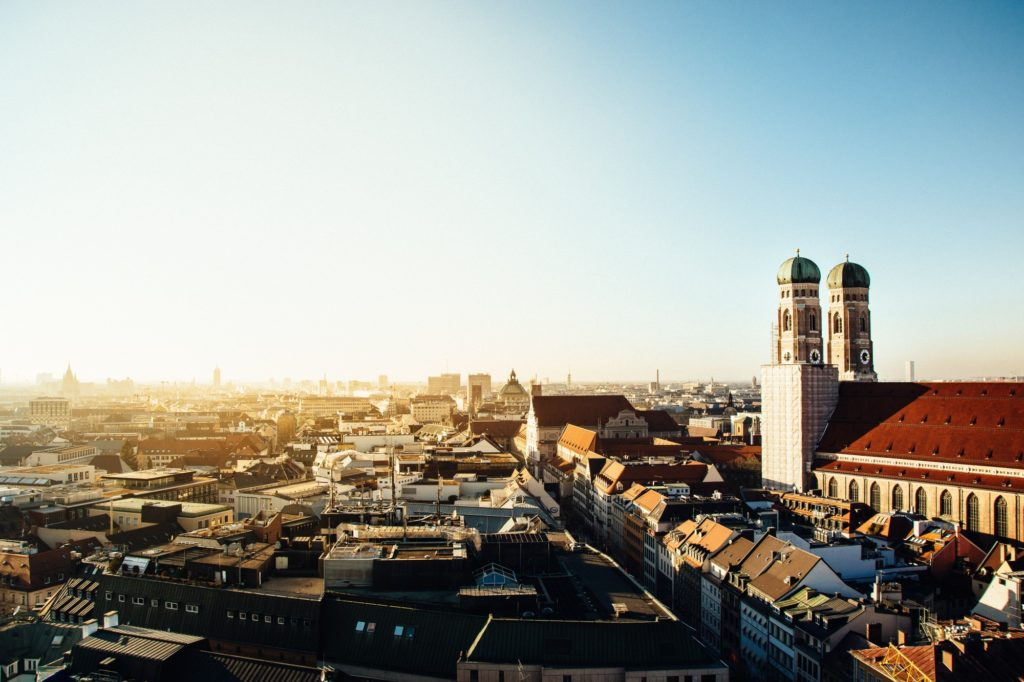 Ein Blick über München in Bayern