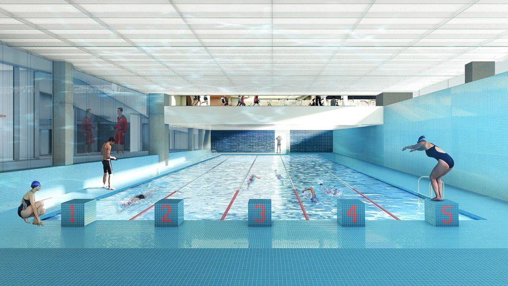 Schwimmen als Wettkampf im Brighton College
